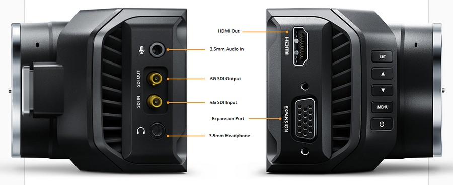 HDMI Out 3.5mm Audio In 6G SDI Output 6G SDI Input Expansion Port 3.5mm Headphone