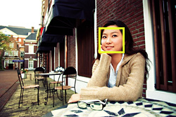 Face-Recognition AF & AE. Automatic Detection of the Subject's Face to Assure Pinpoint Focus and Proper Exposure