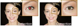 Your subjects' eyes retain their natural color